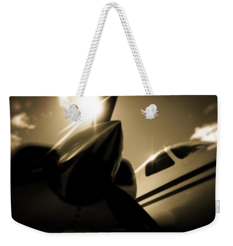 Aviation Weekender Tote Bag featuring the photograph In The Shade by Paul Job