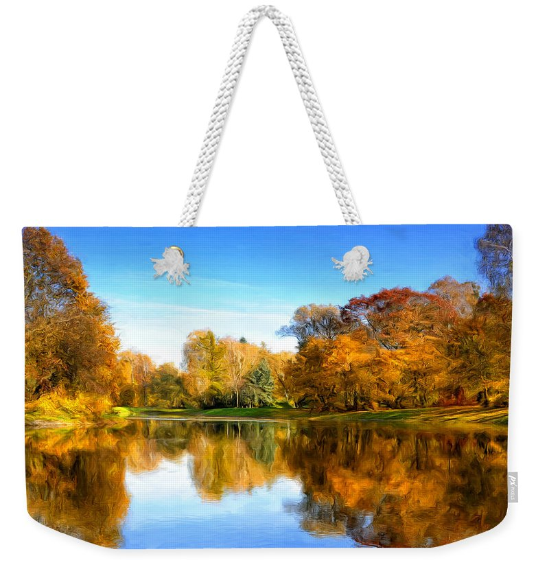 Stillness Weekender Tote Bag featuring the painting In The Stillness by Dominic Piperata
