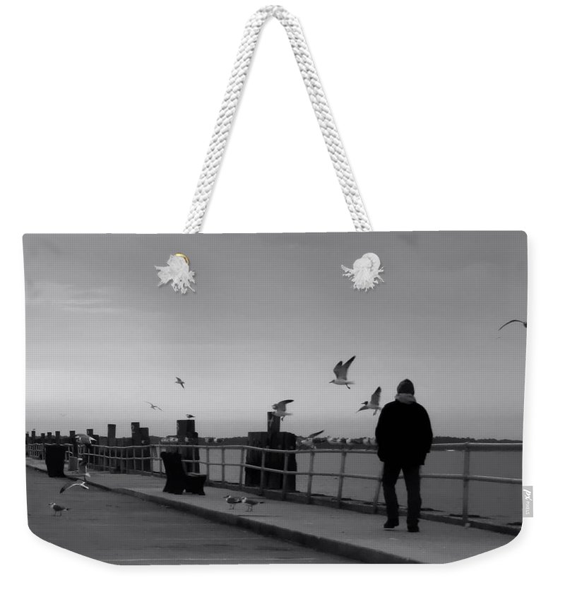 Panama City Weekender Tote Bag featuring the photograph In Thought by Debra Forand