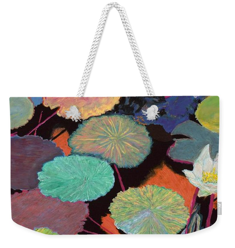 Landscape Weekender Tote Bag featuring the painting Ina Magic by Allan P Friedlander