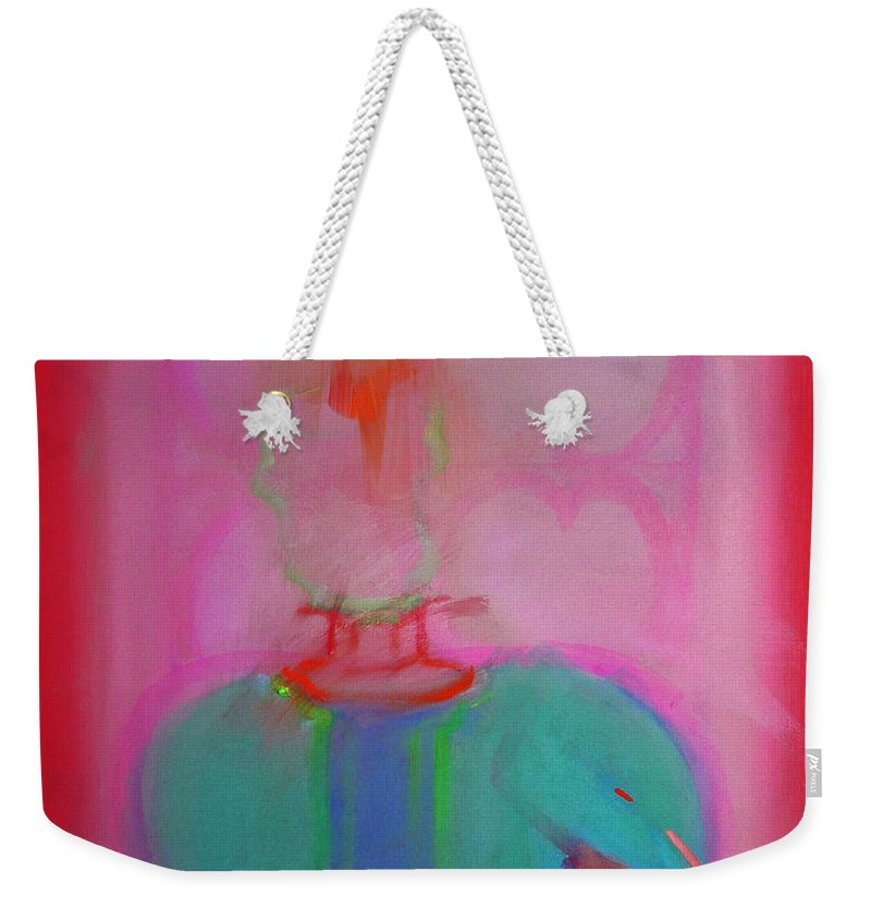 Elephant Weekender Tote Bag featuring the painting Indian Elephant by Charles Stuart