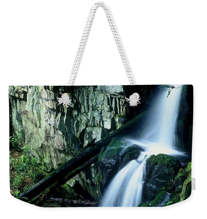 Nature Weekender Tote Bag featuring the photograph Indian Falls by Rodney Lee Williams