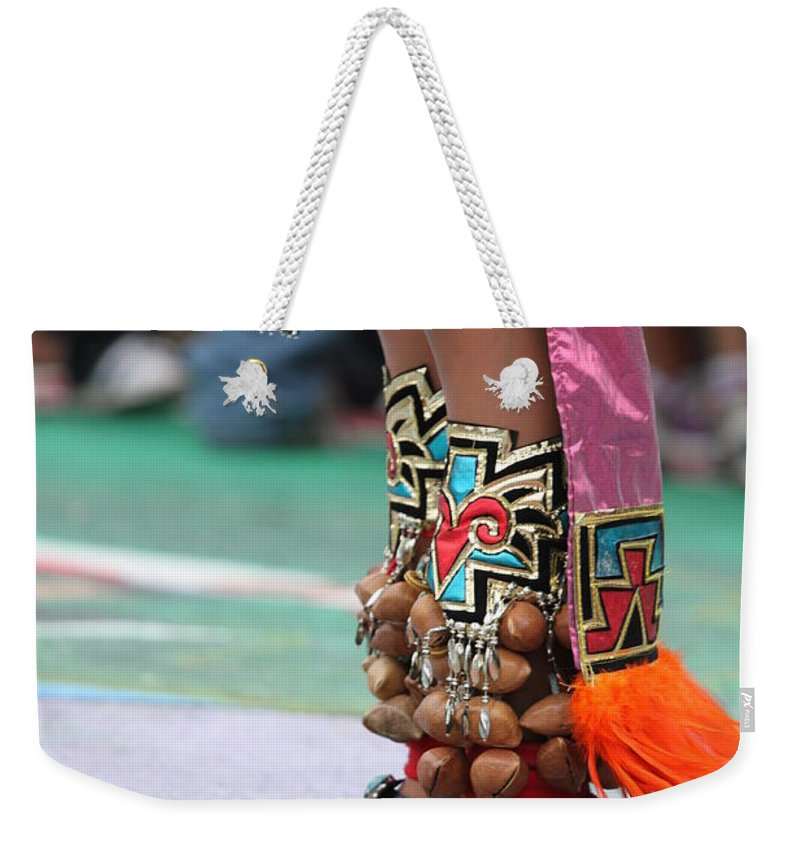 Femaile Weekender Tote Bag featuring the photograph Indian Feet by Henrik Lehnerer