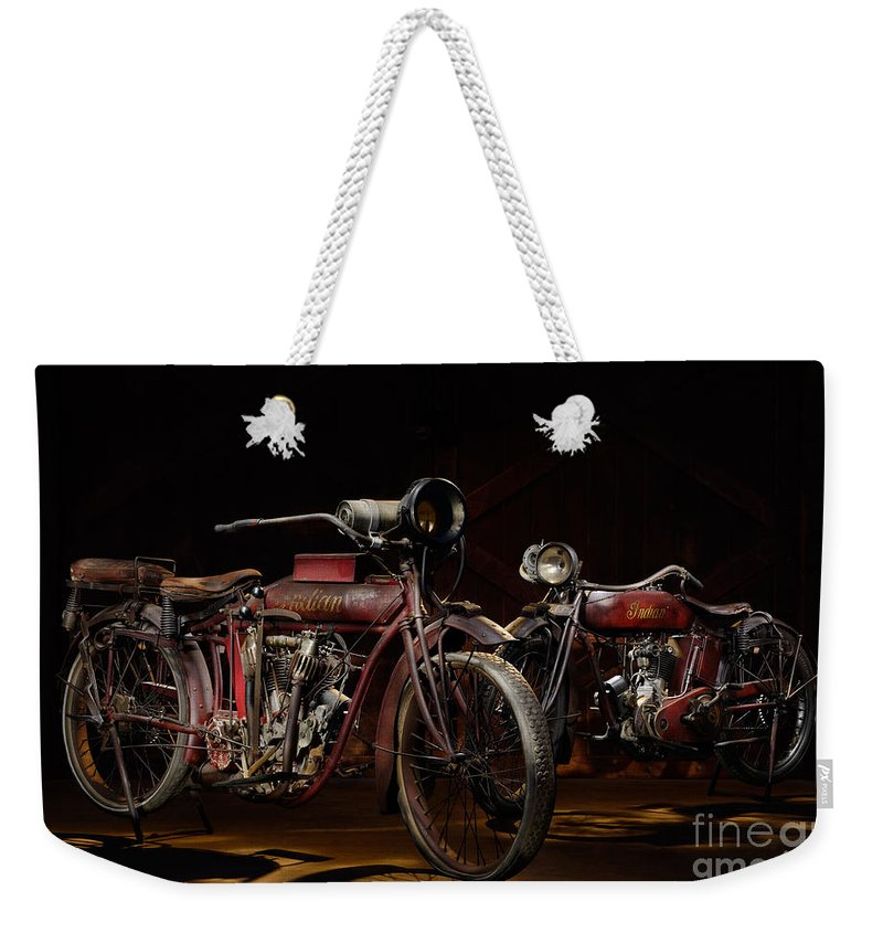 Classic Weekender Tote Bag featuring the photograph Indian Hedstrom And Powerplus by Frank Kletschkus