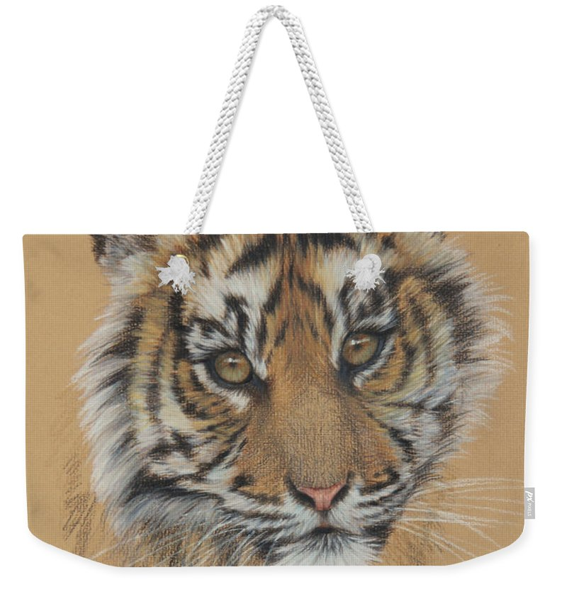 Wildlife Weekender Tote Bag featuring the drawing Indian Princess by Clare Shaughnessy