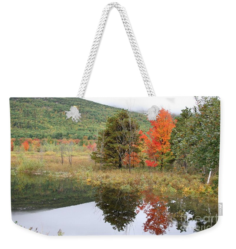 Autumn Weekender Tote Bag featuring the photograph Indian Summer Acadia Park by Christiane Schulze Art And Photography