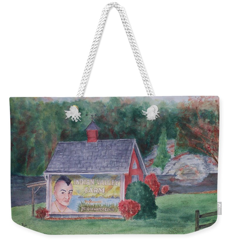 Indian Valley Farm Weekender Tote Bag featuring the painting Indian Valley Farm by Rhonda Leonard