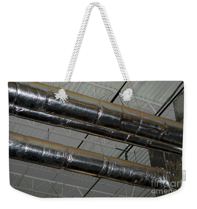 Industrial Weekender Tote Bag featuring the photograph Industrial 1 by Alys Caviness-Gober