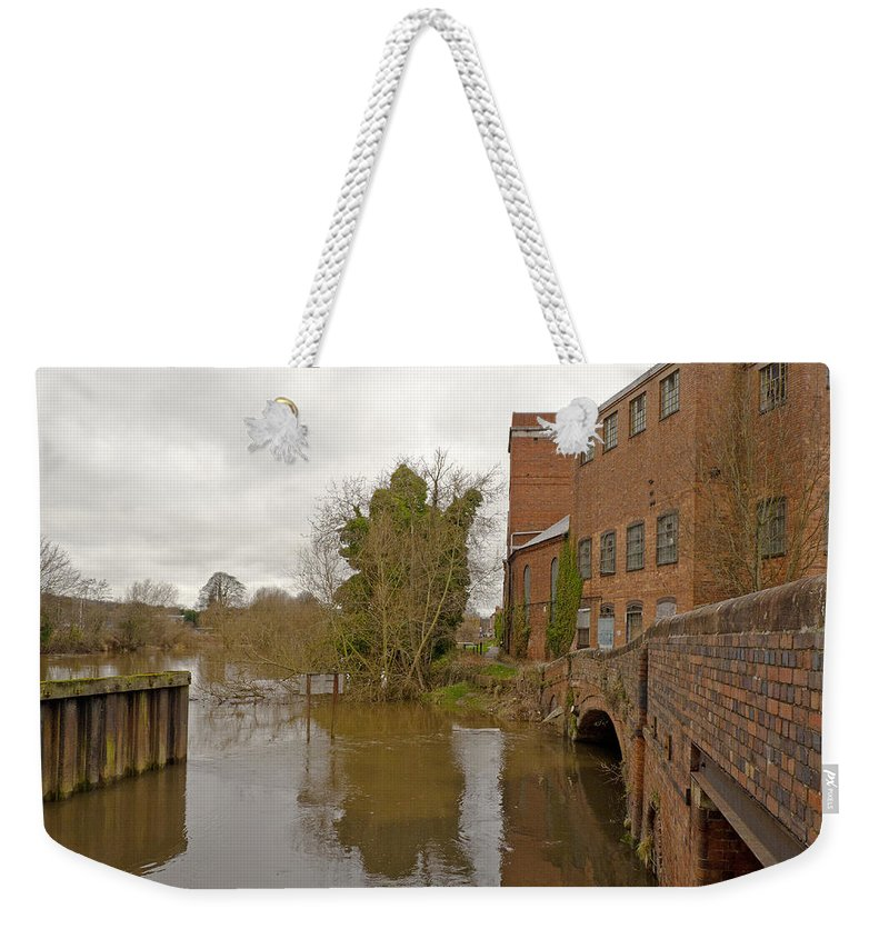 River Severn Weekender Tote Bag featuring the photograph Industrial Architecture by Tony Murtagh