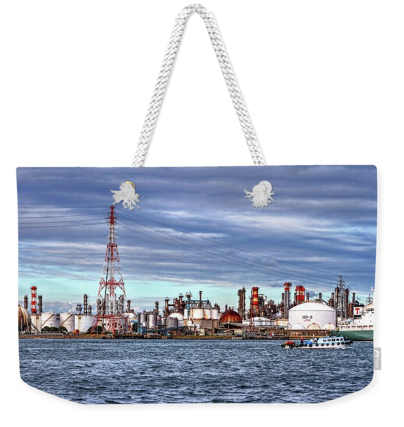 Manufacturing Equipment Weekender Tote Bag featuring the photograph Industrial View by Uemii