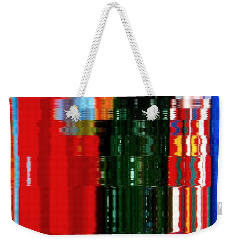 Abstract Weekender Tote Bag featuring the photograph Infinity Jewel Mosaic 5 by Cj Carroll
