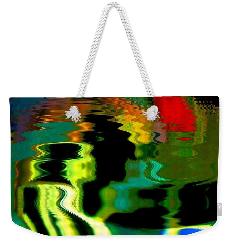 Abstract Weekender Tote Bag featuring the photograph Infinity Rainbow River 1 by Cj Carroll