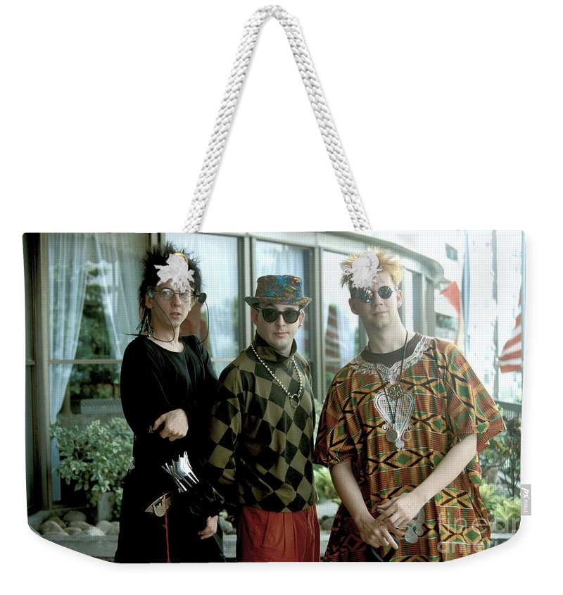 Sunglasses Weekender Tote Bag featuring the photograph Information Society by Concert Photos