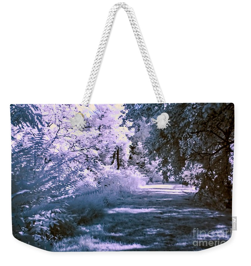 infra Red Weekender Tote Bag featuring the photograph Infrared Morning by Anthony Sacco