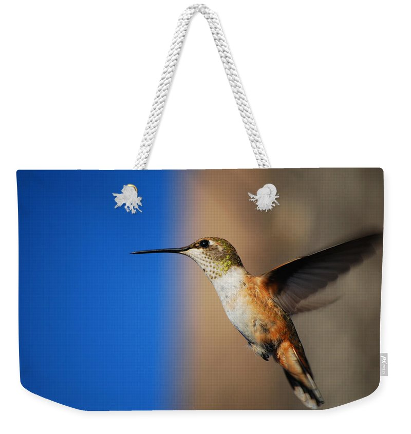 Becky Furgason Weekender Tote Bag featuring the photograph #inlovewithlove by Becky Furgason