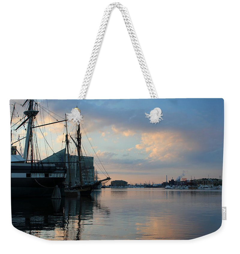 Harbor Weekender Tote Bag featuring the photograph Inner Harbor610 by Carolyn Stagger Cokley