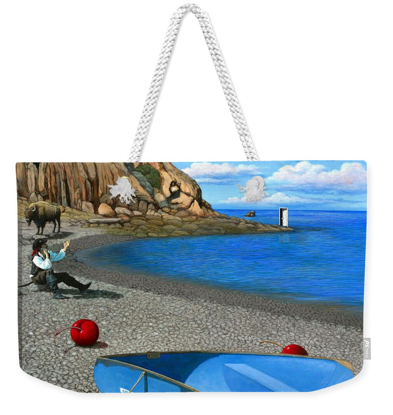 Pirate Weekender Tote Bag featuring the painting Inquiries by Snake Jagger