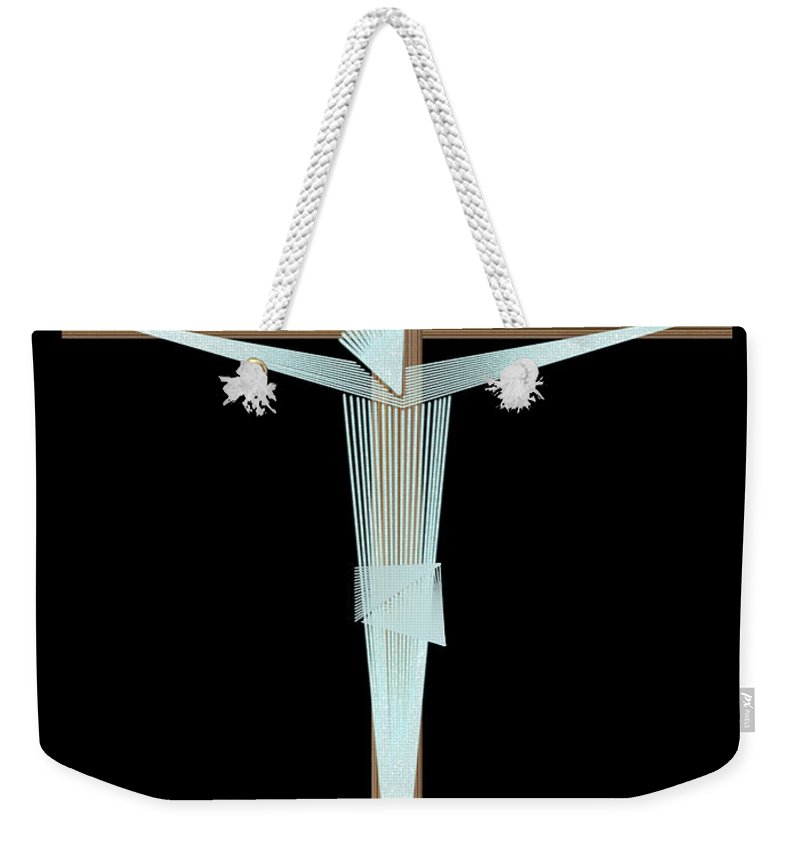 Crucifix Weekender Tote Bag featuring the digital art Inri by Carlos Vieira