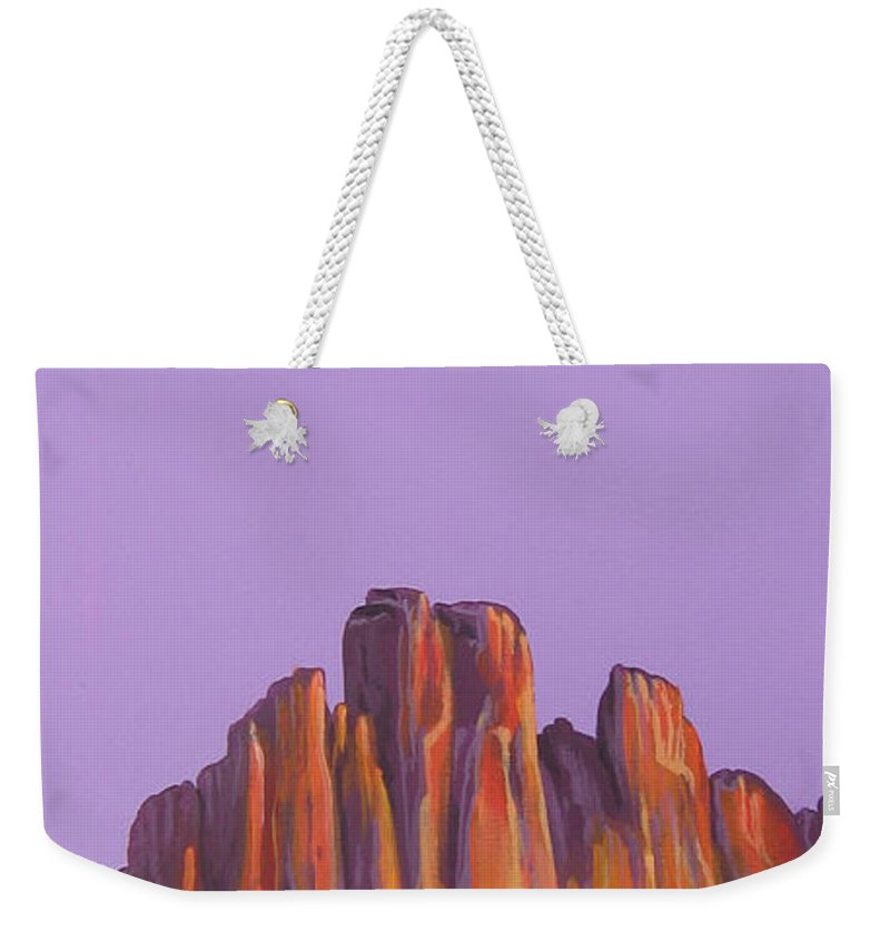 Landscape Weekender Tote Bag featuring the painting Inscription Rock by Hunter Jay