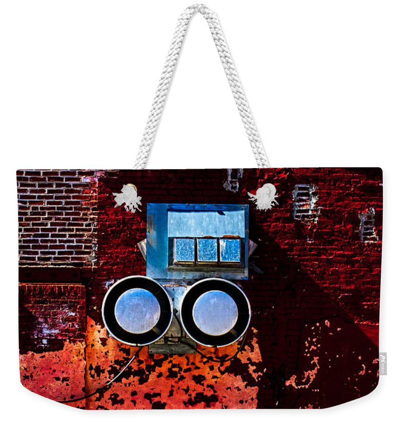 Architecture Weekender Tote Bag featuring the photograph Inside Out by Bob Orsillo