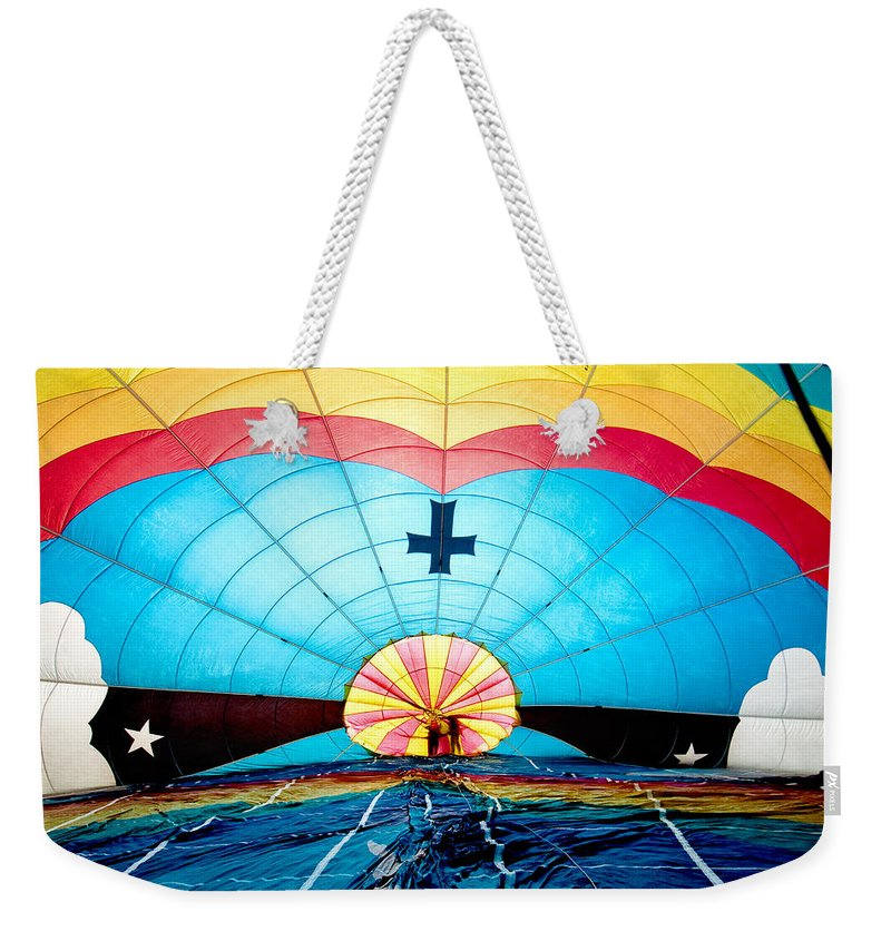 Aerial Weekender Tote Bag featuring the photograph Inside The Heavens by Greg Fortier