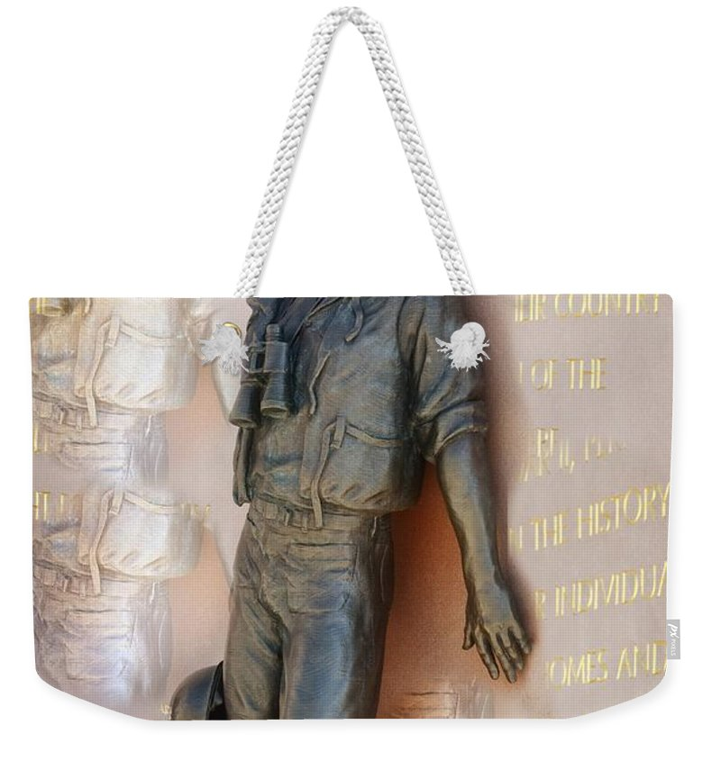 San Diego Weekender Tote Bag featuring the photograph Inside The Man by Image Takers Photography LLC - Carol Haddon