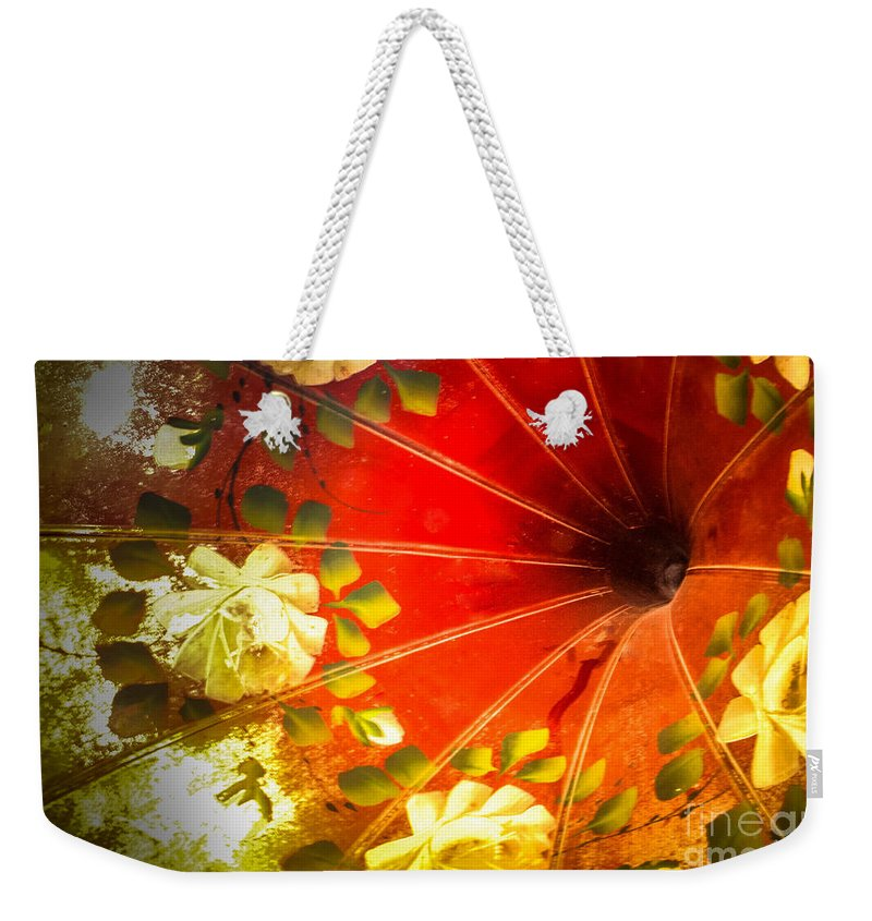 Phonograph Weekender Tote Bag featuring the photograph Inside The Phonograph by Grace Grogan