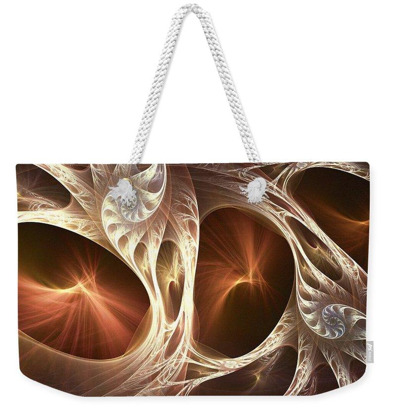 Computer Weekender Tote Bag featuring the digital art Inside The Shell by Anastasiya Malakhova