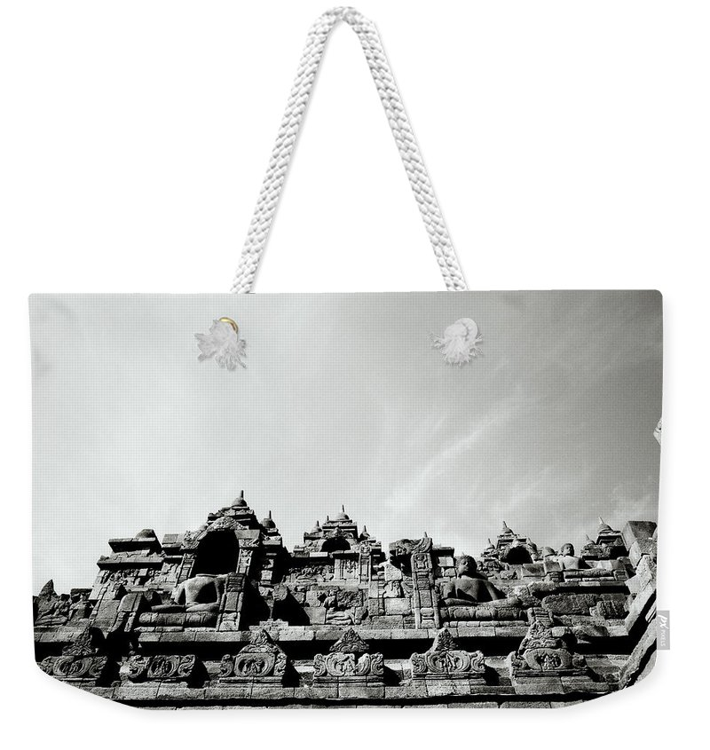 Buddha Weekender Tote Bag featuring the photograph Inspiration At Borobudur by Shaun Higson