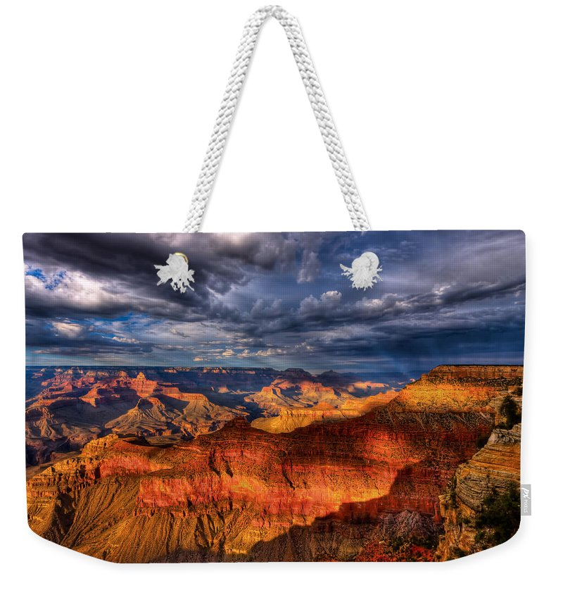Grand Canyon Weekender Tote Bag featuring the photograph Inspiration by Beth Sargent