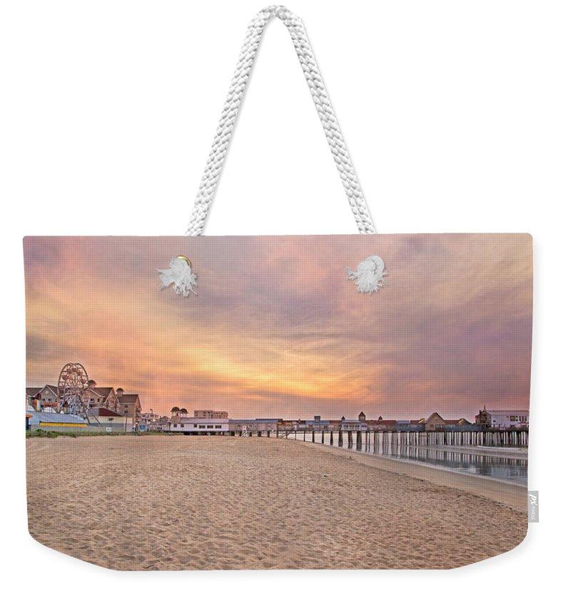 Orchard Beach Weekender Tote Bags