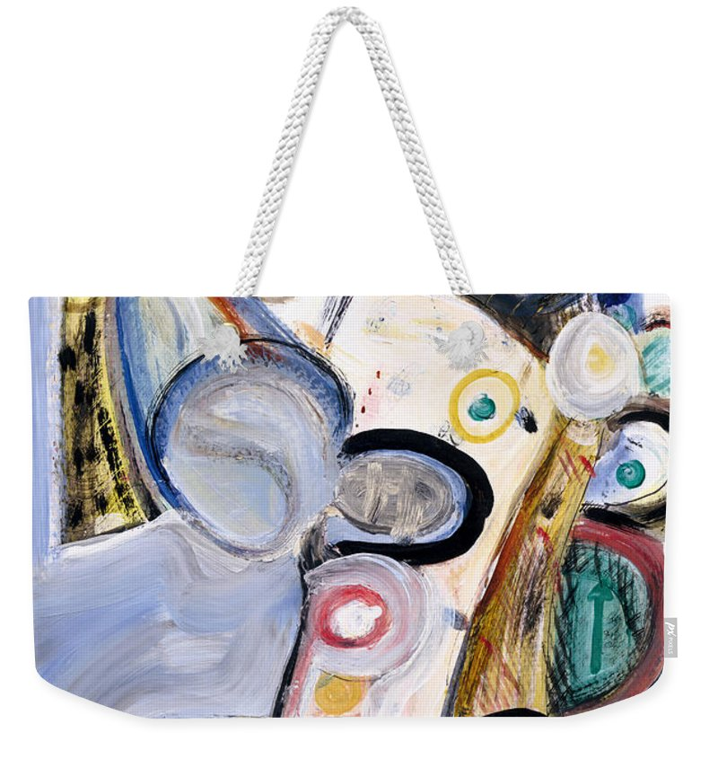 Abstract Art Weekender Tote Bag featuring the painting Intellect by Stephen Lucas