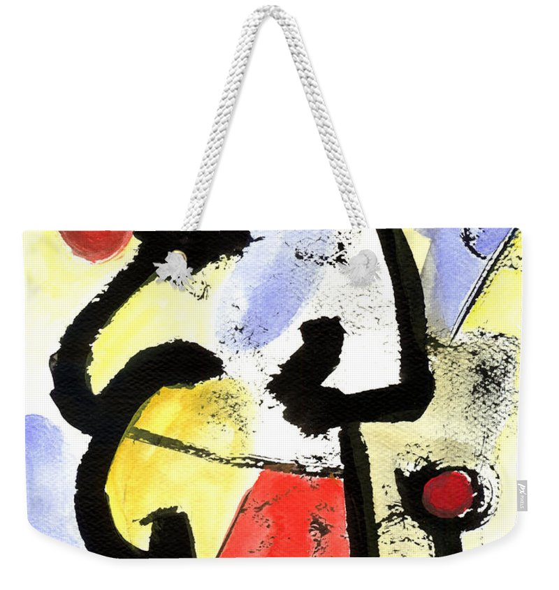 Abstract Art Weekender Tote Bag featuring the painting Intense And Purpose 1 by Stephen Lucas
