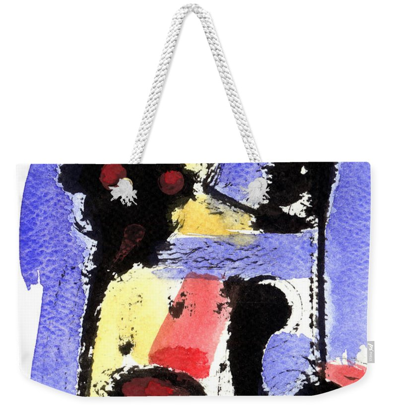 Abstract Art Weekender Tote Bag featuring the painting Intense And Purpose 2 by Stephen Lucas