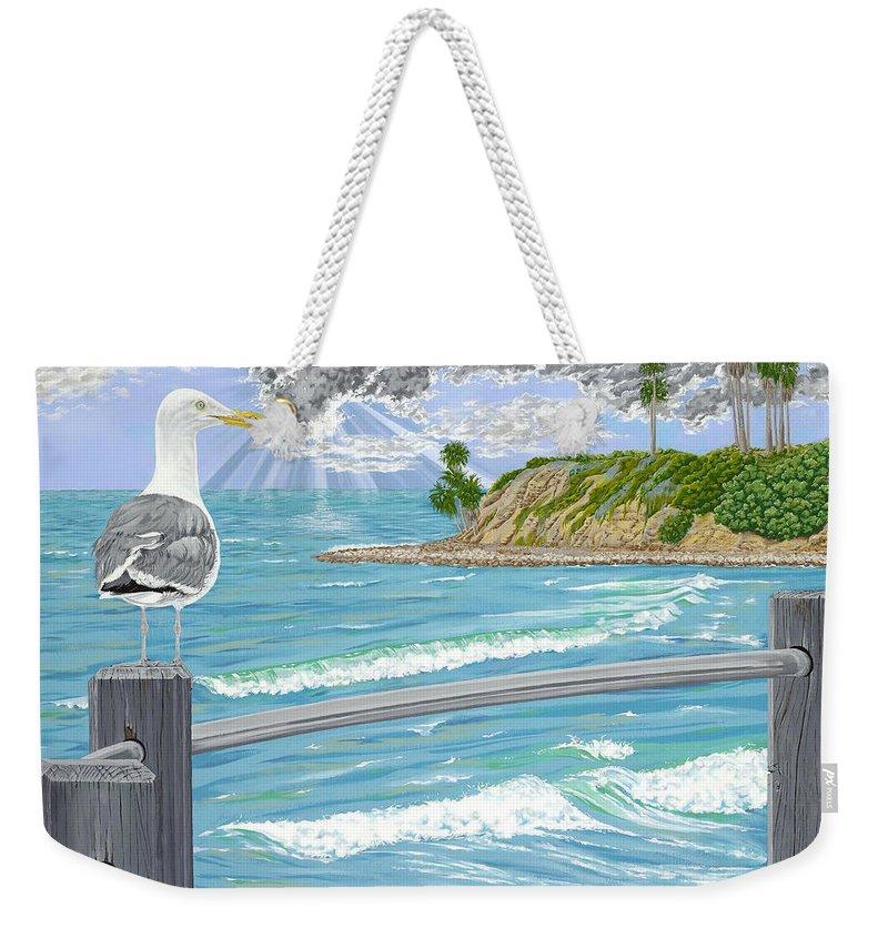 Sea Gull Weekender Tote Bag featuring the painting Intensity by John Wilson