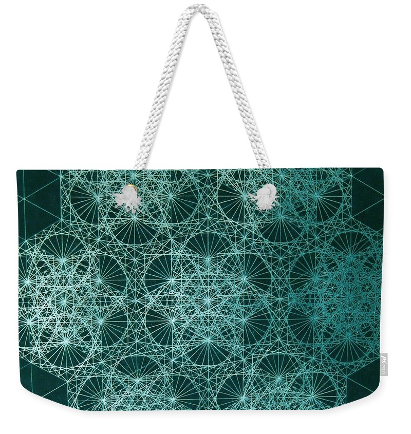 Jason Weekender Tote Bag featuring the drawing Interference by Jason Padgett
