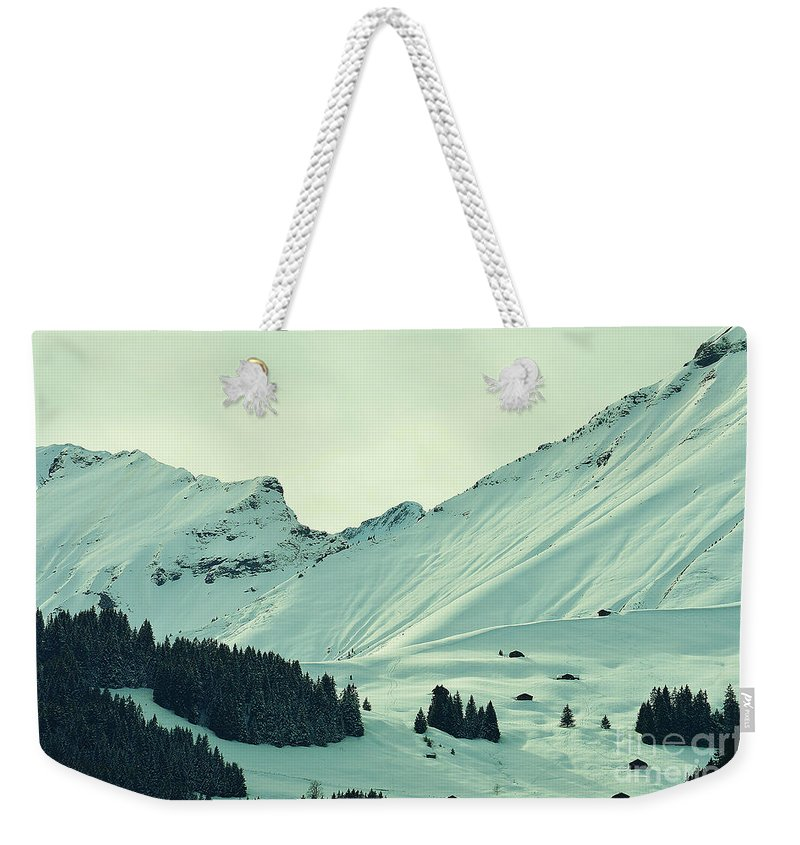 Alps Weekender Tote Bag featuring the photograph Interfluent Lines by Felicia Tica