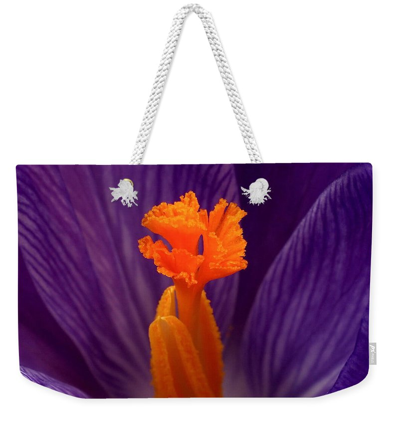 Crocus Weekender Tote Bag featuring the photograph Interior Design by Rona Black