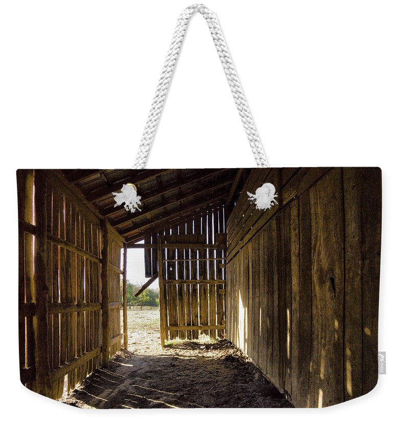 Tennessee Weekender Tote Bag featuring the photograph Interiors by Diana Powell