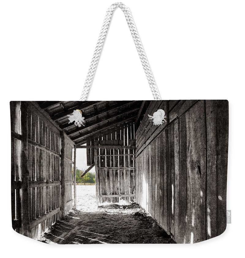 Tennessee Weekender Tote Bag featuring the photograph Interiors In Black And White by Diana Powell