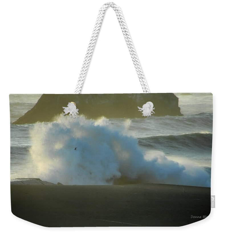 Ocean Weekender Tote Bag featuring the photograph Internal Light by Donna Blackhall