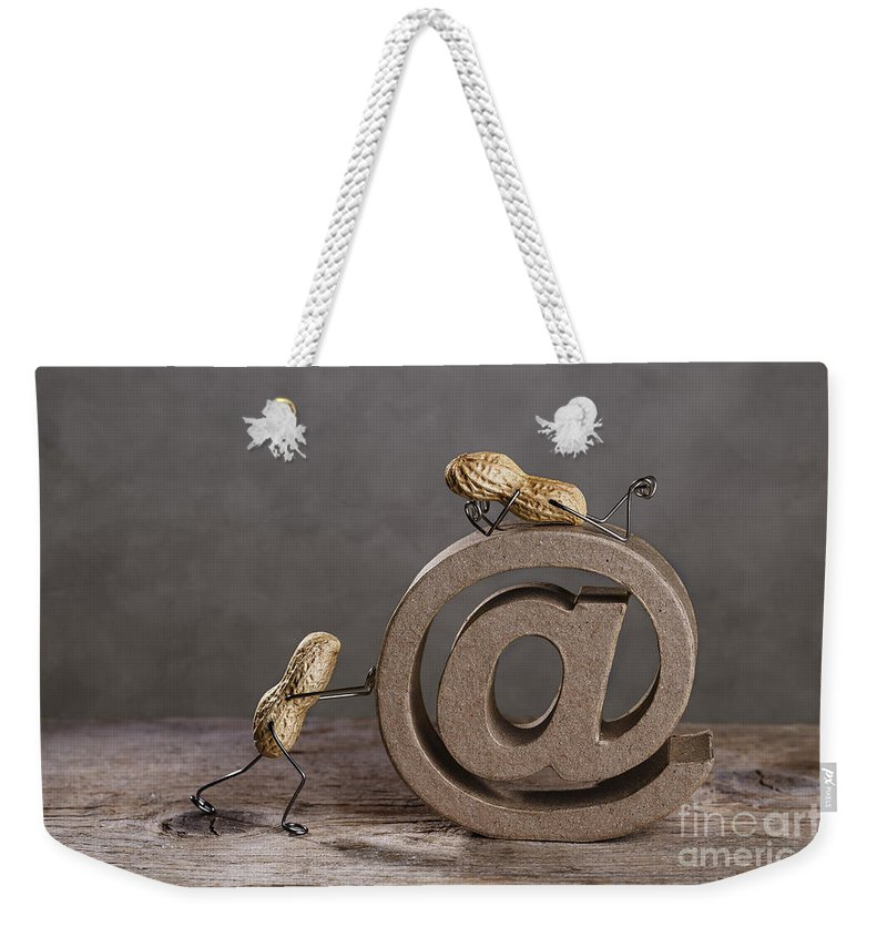 Simple Weekender Tote Bag featuring the photograph Internet by Nailia Schwarz