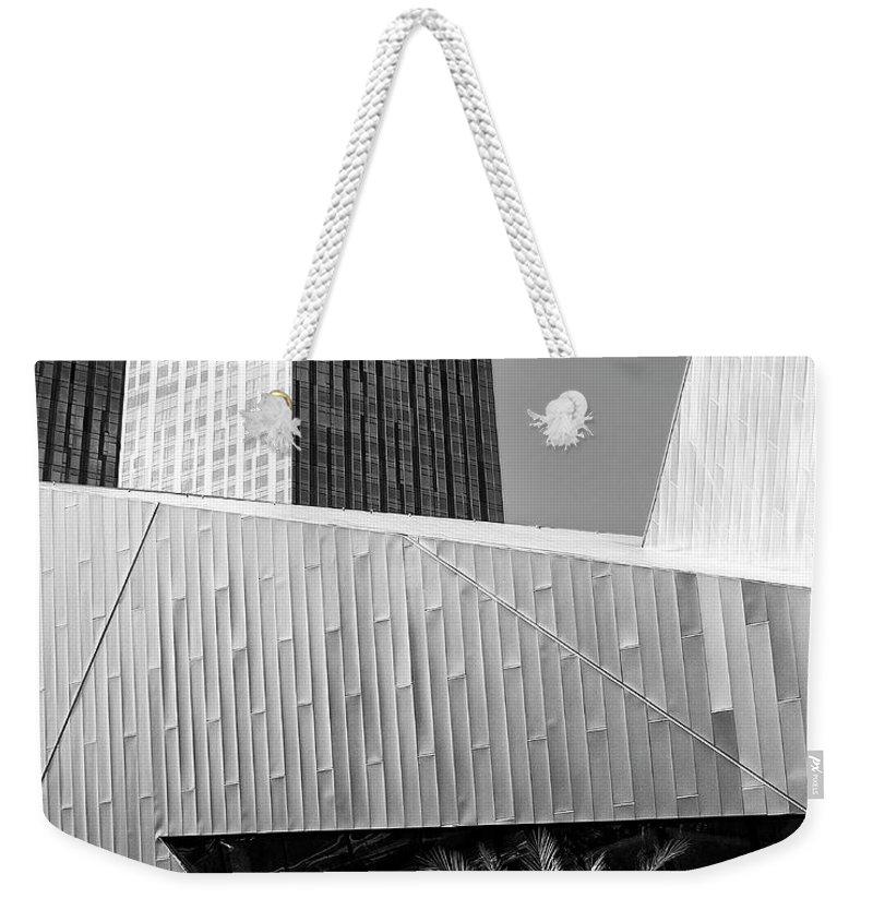 Vegas Weekender Tote Bag featuring the photograph Intersection 2 Bw Las Vegas by William Dey