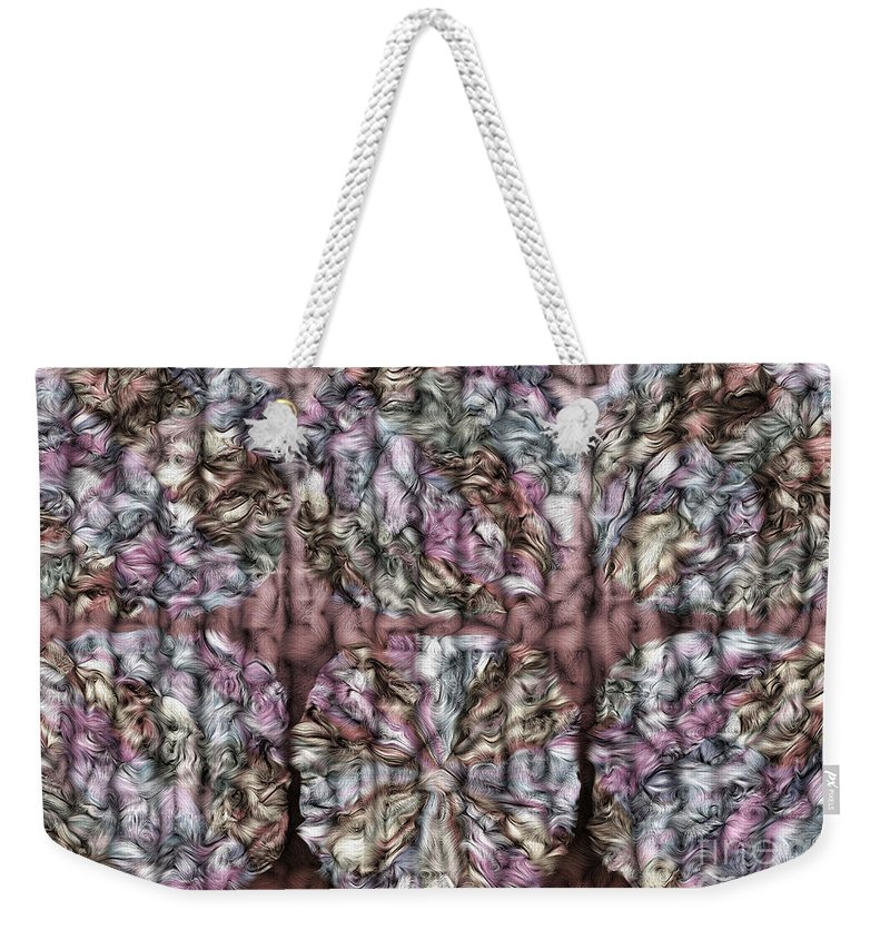 Interwine Weekender Tote Bag featuring the digital art Interwine by Mo T