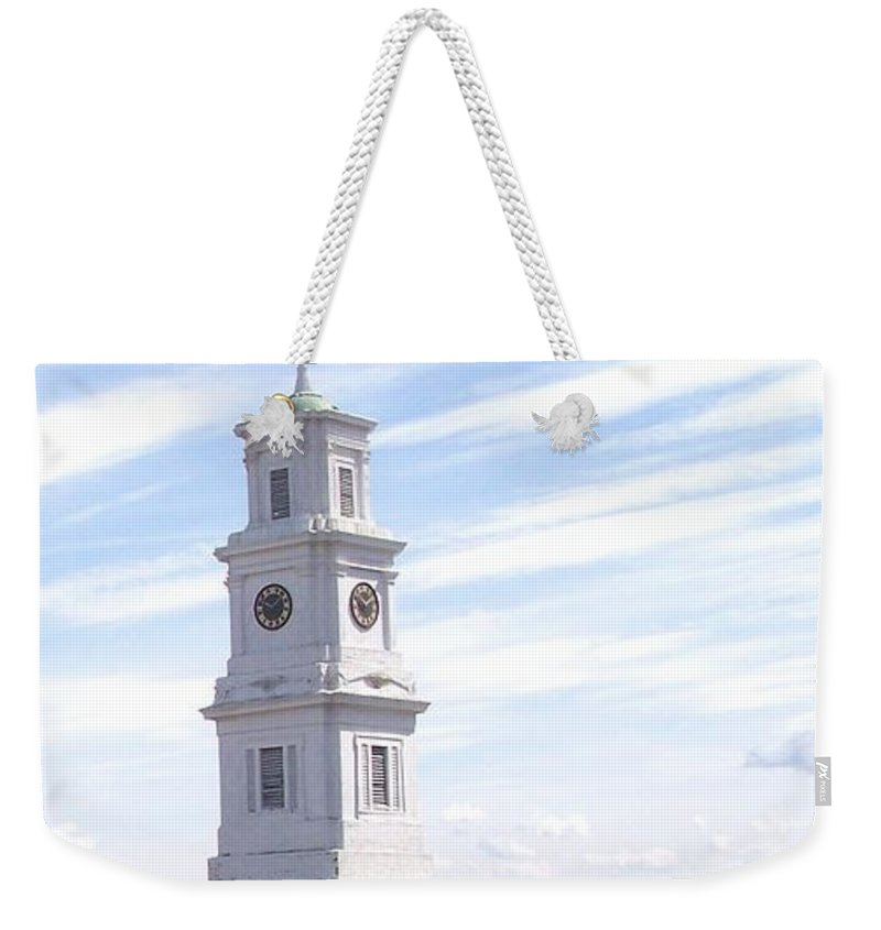 Architecture Weekender Tote Bag featuring the photograph Into The Blue by Pharris Art