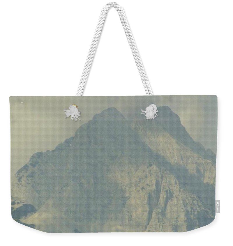 Mountain Weekender Tote Bag featuring the photograph Into The Clouds by John Malone