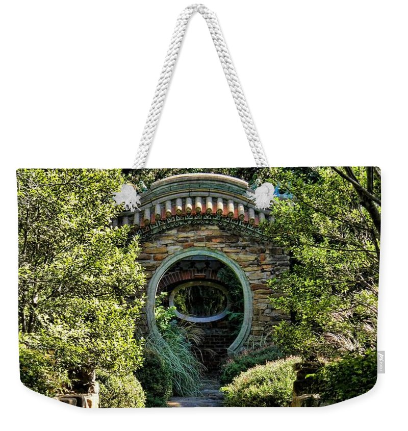 Chandor Gardens Weekender Tote Bag featuring the photograph Into The Enchanted Garden by Shannon Story