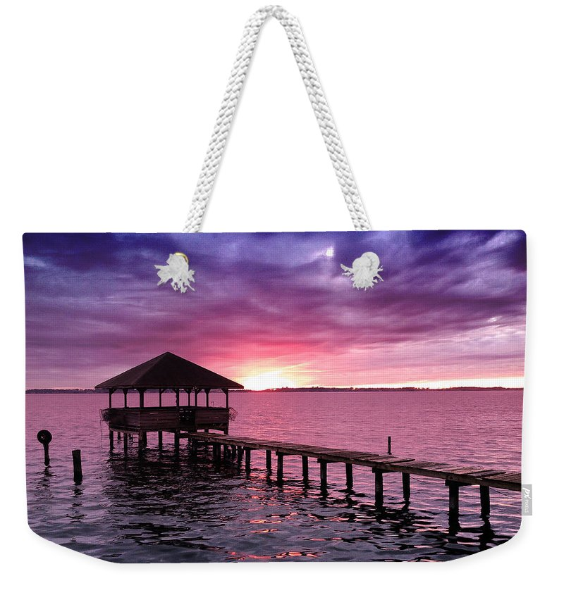 Photography Weekender Tote Bag featuring the photograph Into The Horizon by Rebecca Davis