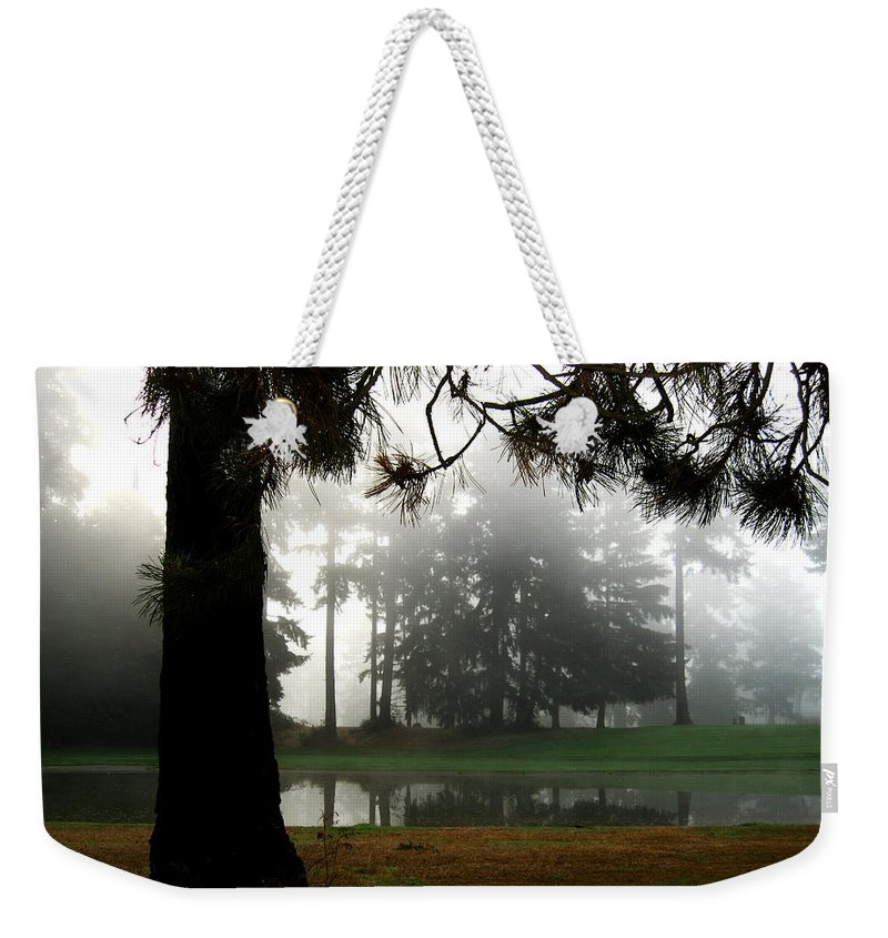 Landscape Weekender Tote Bag featuring the photograph Into The Mist by Carlene Salazar