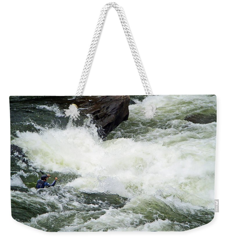 White Water Weekender Tote Bag featuring the photograph Into The Rapids by Aimee L Maher ALM GALLERY